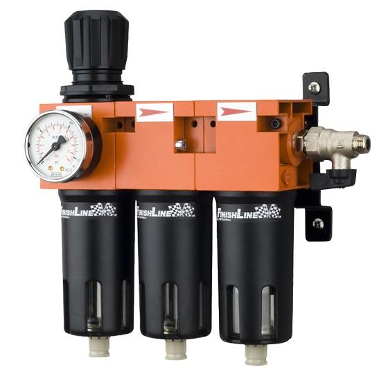 Filterregler mit Wasserabscheider & Aktivkohlefilter