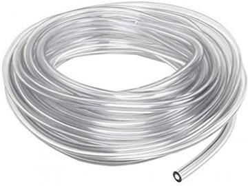 Materialschlauch (Niederdruck), transparent mit 1x 1/4 und 1x 3/8 Anschluss