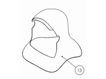 HAUBE für PROV-650 Maske