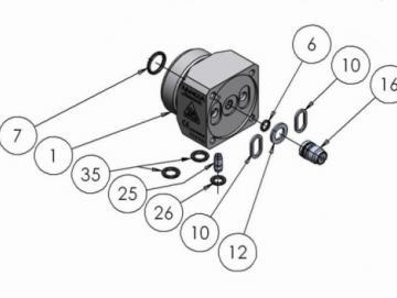 O-RING VITON EXTREME (4 Stück) für AA4400A