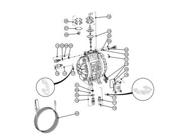 Einlass- (x 2) und Auslassklemmen (x 2) für DX70